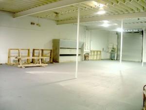 Warehouse painted floor